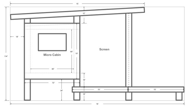 Micro Cabin Schematic South